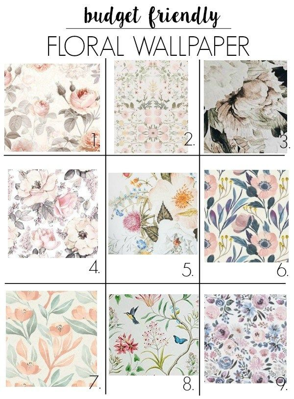 Affordable Floral Mural Floral Wallpaper Bedroom Pink Accent Walls Floral Wallpaper