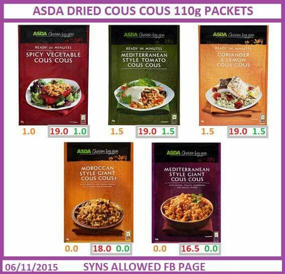 Asda dried cous cous
