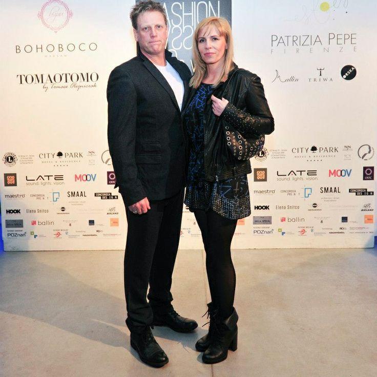 Aktor Jan Jankowski z partnerką