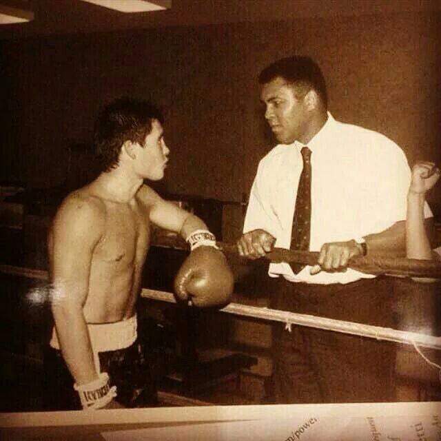 Julio Cesar Chávez & Muhhamed Ali. #Box #Legends #80s