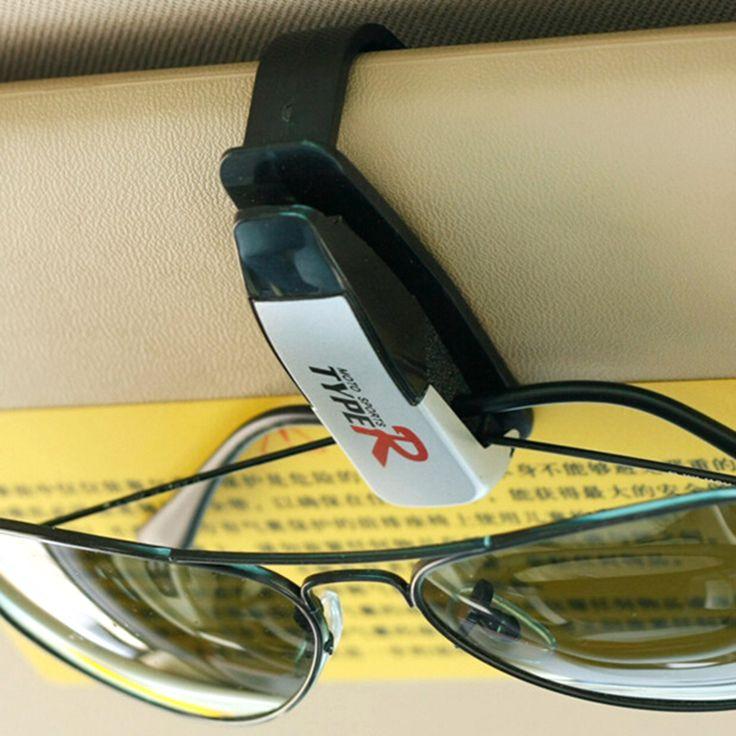 Hot Sale ABS Car Vehicle Sun Visor Sunglasses Eyeglasses Glasses Holder Card Ticket Pen Clip Automotive Accessories