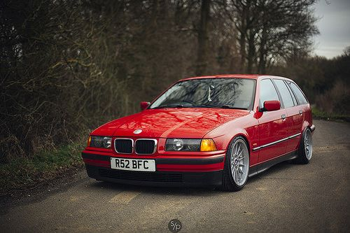 Hellrot Non M Bmw E36 Touring On Oem Bmw Styling 32 Wheels