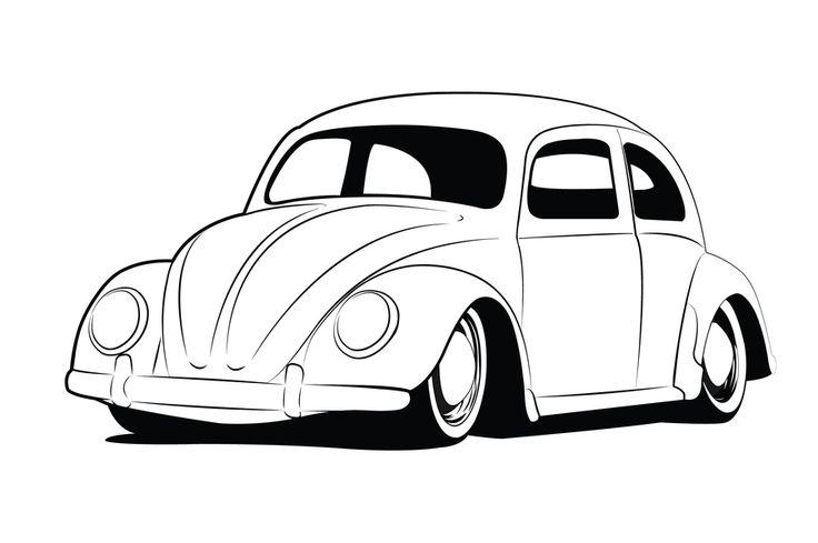 vw beetle lineart by  gaberios on deviantart