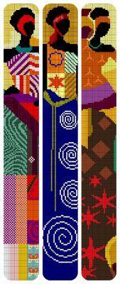 Patrones de africanas en punto de cruz