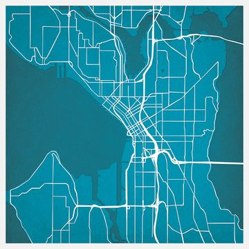 Seattle Map Print, $29, now featured on Fab.