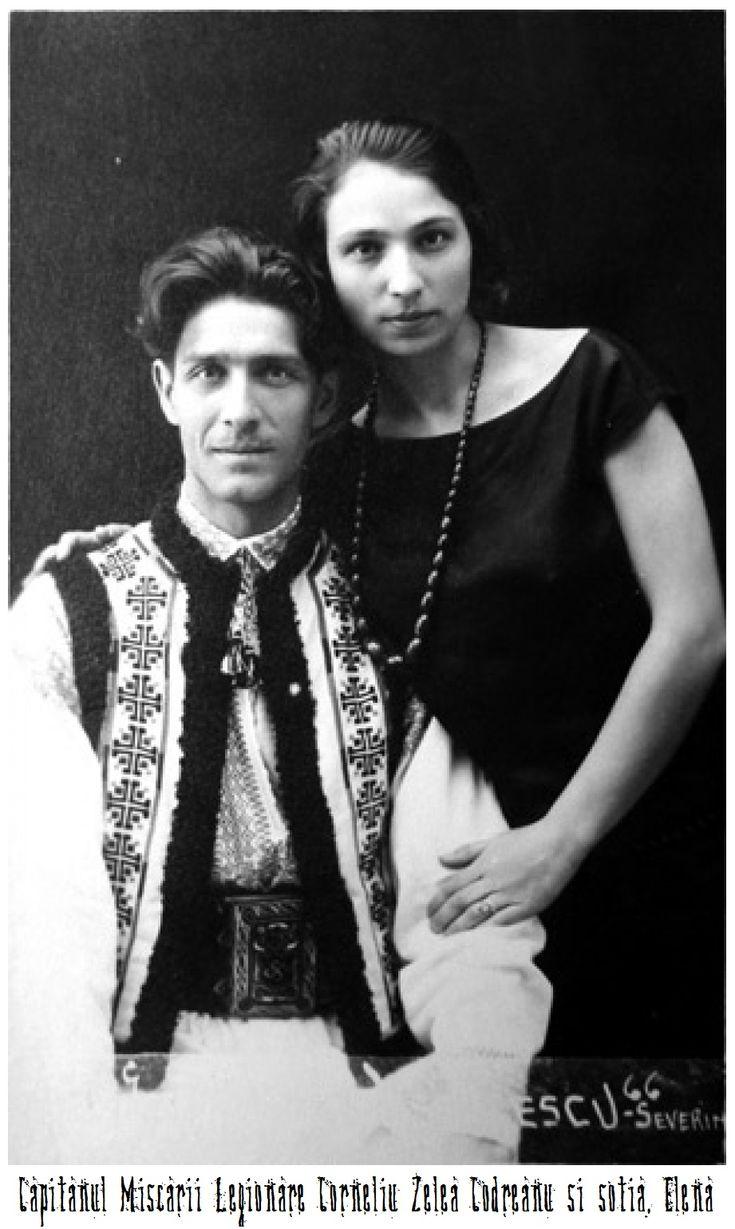 Corneliu Codreanu si doamna sa, Elena