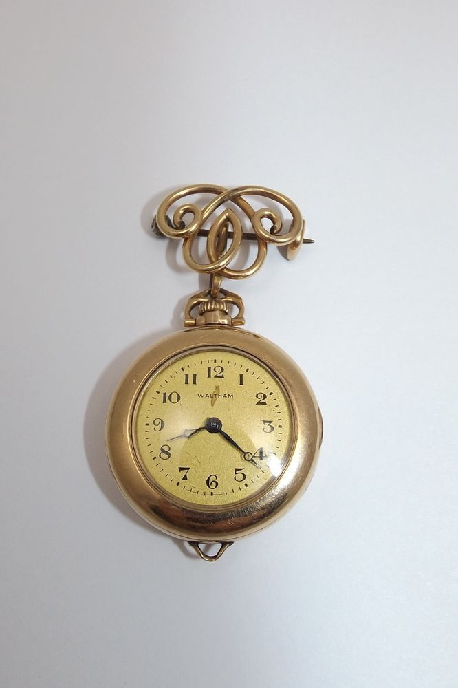 Victorian Simmons Wireworks Watch Brooch W 15 Jewel