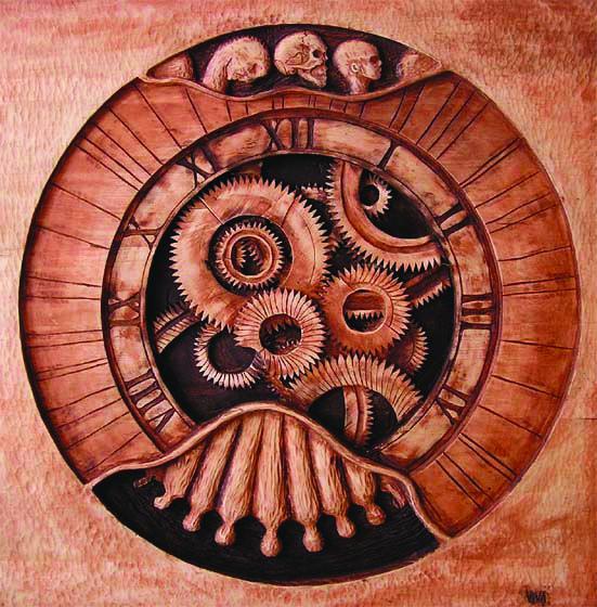 THE TIME I., lime, 90 x 90 cm / ČAS I., lípa, 90 x 90 cm / Viva wood art