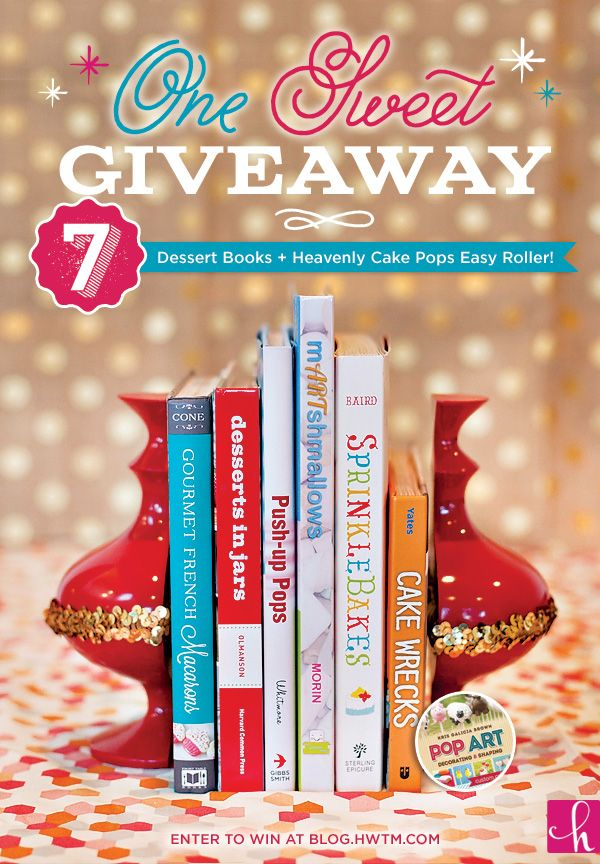 GIVEAWAY: Sweets Library + Cake Pops Easy Roller!  Entered, check to see if I won on Sunday!  Hostess with mostess blog