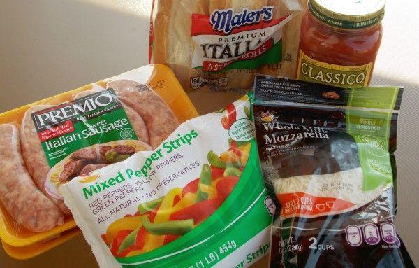 Easy Crockpot Sausage Sandwiches #Recipe