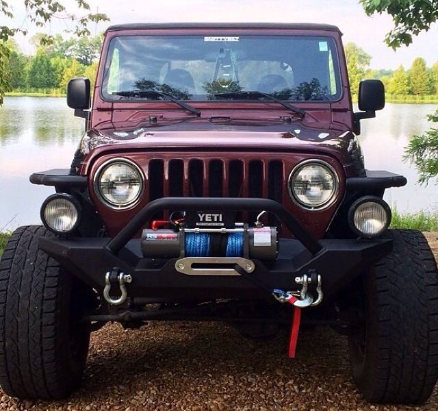 MAROON JEEP JK love this color!