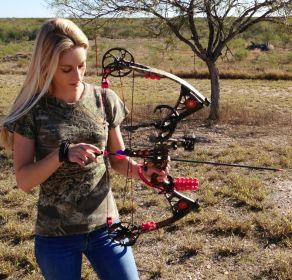 Hunting, Bow Hunting, Womens hunting, Camo Always be Prepared and back up your release!
