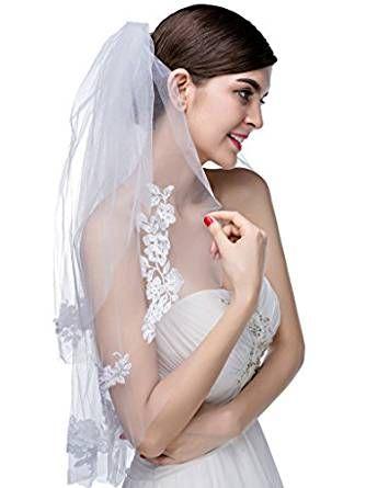 Edith qi 2 Livello velo da sposa