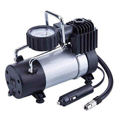 TIREWELL 12V Tire Inflator - Direct Drive Metal Pump 100PSI, Portable Air Compressor with Battery Clamp #TIREWELL #Tire #Inflator #Direct #Drive #Metal #Pump #PSI, #Portable #Compressor #with #Battery #Clamp