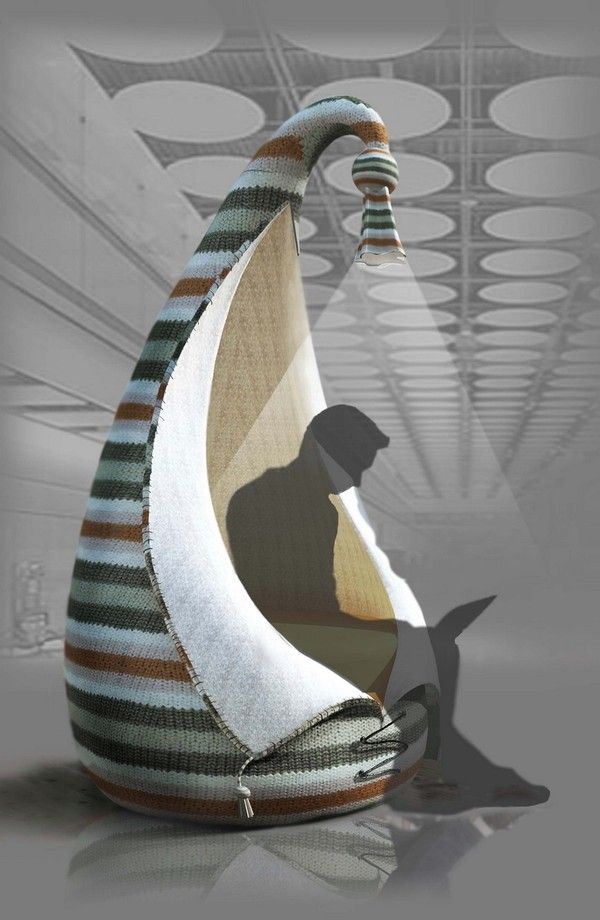 is a cozy armchair having a beautiful appearance which seems inspired by one