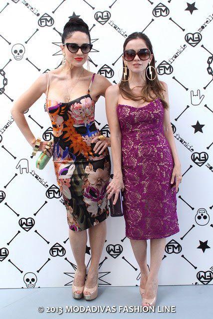 Paola e Chiara special Guest del parterre di Frankie Morello - Menswear Spring summer 2014