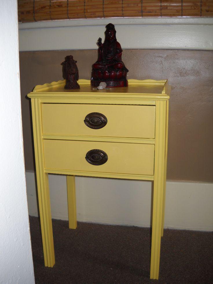 Refinished vintage bedside table