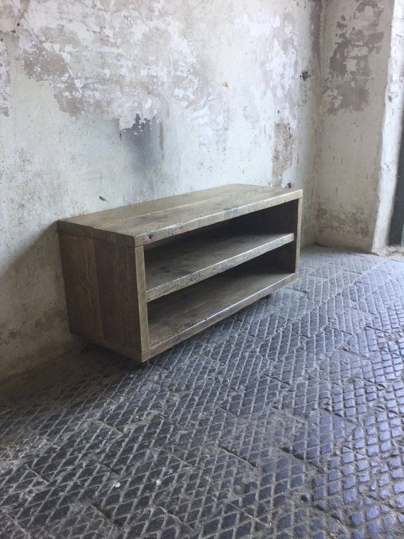Solid construction made using reclaimed scaffold boards, treated with an oak wax for protection. Once the wax has set, the boards have then