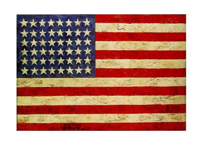 """""""Флаг"""" Джаспер Джонс (англ. Jasper Johns, р. 1930) – американский художник, известный своими поп-арт работами. Биография, картины: http://contemporary-artists.ru/Jasper_Johns.html"""