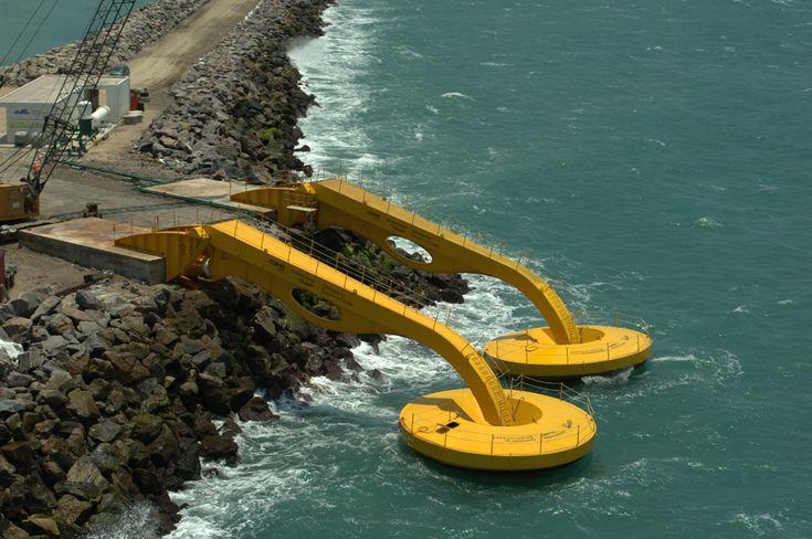 Essa usina no Ceará gera energia pela força das ondas em si, causadas pelo vento.  É uma ideia ainda experimental, mas que em nada tem a ver com usinas de acumulação de marés. ler + = https://pt.scribd.com/doc/311382882/Energia-Maremotriz-e-Energia-Geotermica