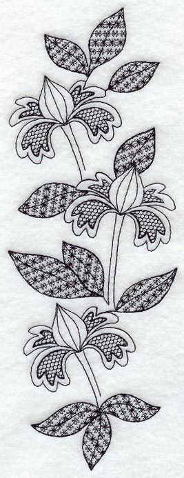 Blooming Spray (Blackwork)