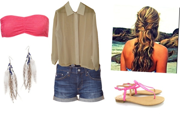 """""""Bandeau Outfit"""" by sporty9girl on Polyvore"""