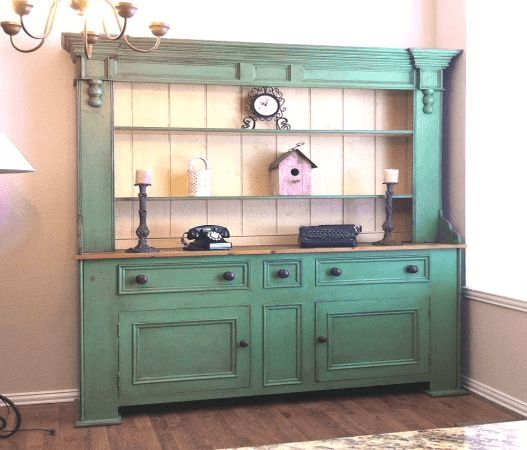 Country style antique Kitchen Hutch Buffet decoration