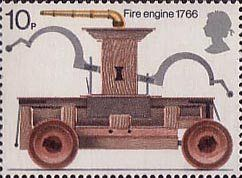 Fire Service 10p Stamp (1974) Fire-engine, 1766