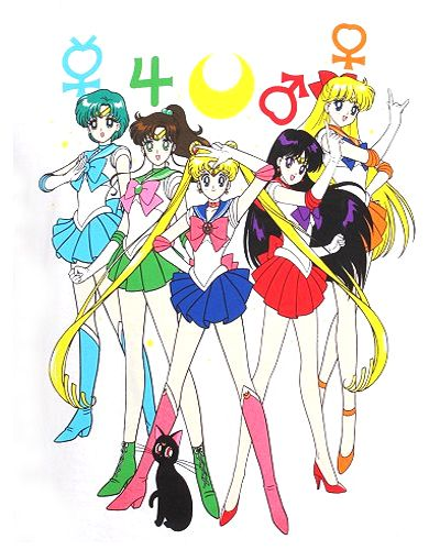New Sailor Moon image featuring Sailor Mercury, Sailor Mars, Sailor Jupiter, Sailor Venus and Sailor Moon & Luna.