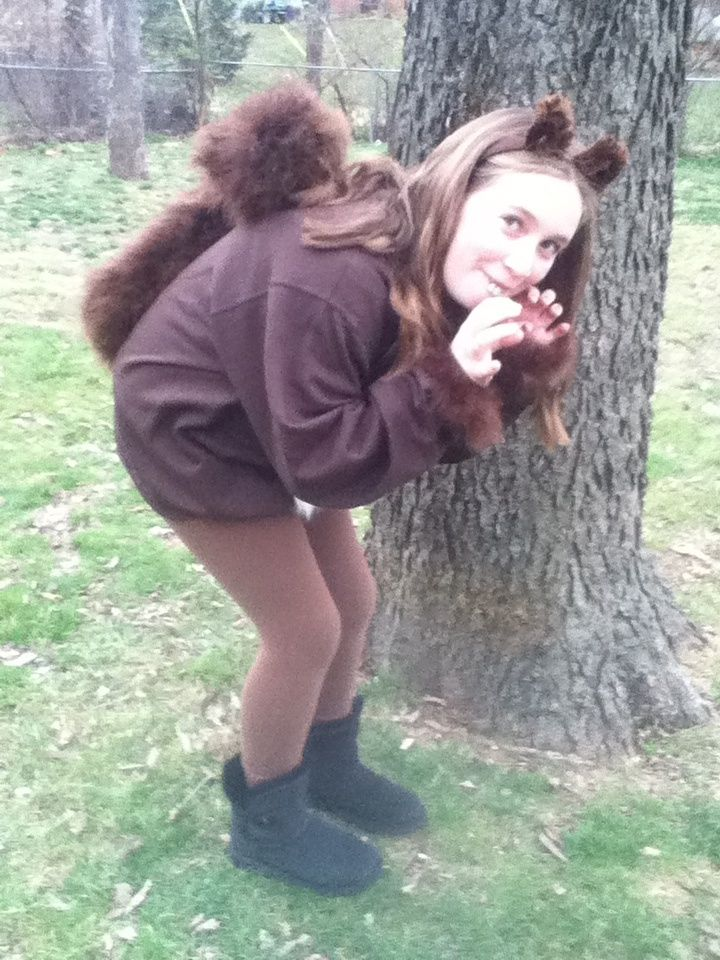 LOL !!!! Homemade squirrel costume | Willy Wonka | Pinterest