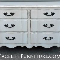 French Provincial Dresser in Antique White. From Facelift Furniture's Antique White Furniture collection.