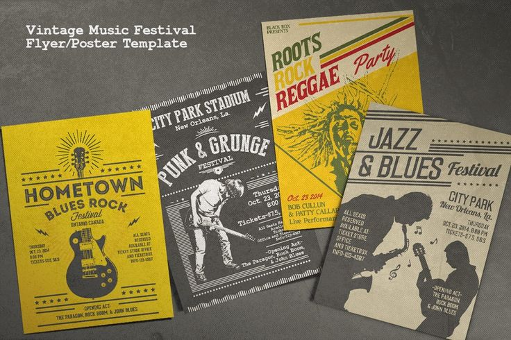 Image of Vintage Music Festival Flyer/Poster