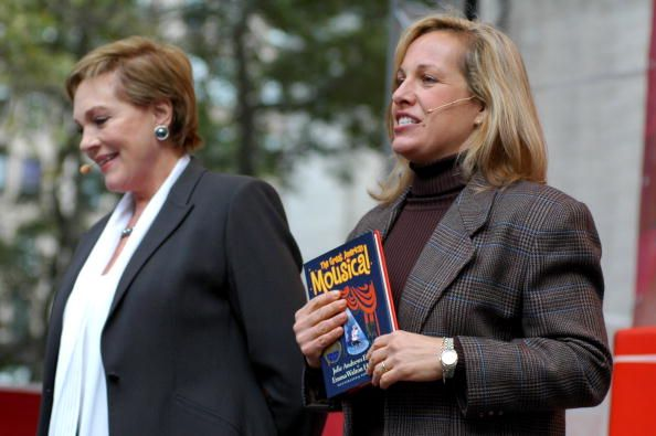 Authors Julie Andrews and Emma Walton Hamilton read from their book 'The Great American Mousical' during the Target Celebrates The Joy Of Reading In...