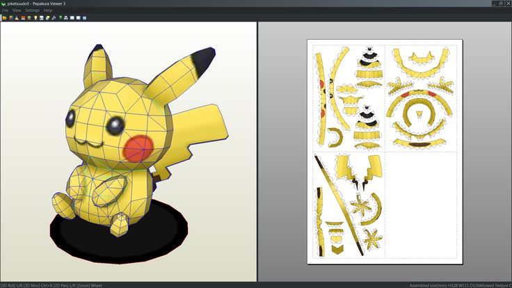 Kids papercraft stuff to buy origami forward pikachu doll papercraft - Pikachu Doll Papercraft Unfold By Antyyy Deviantart Com On