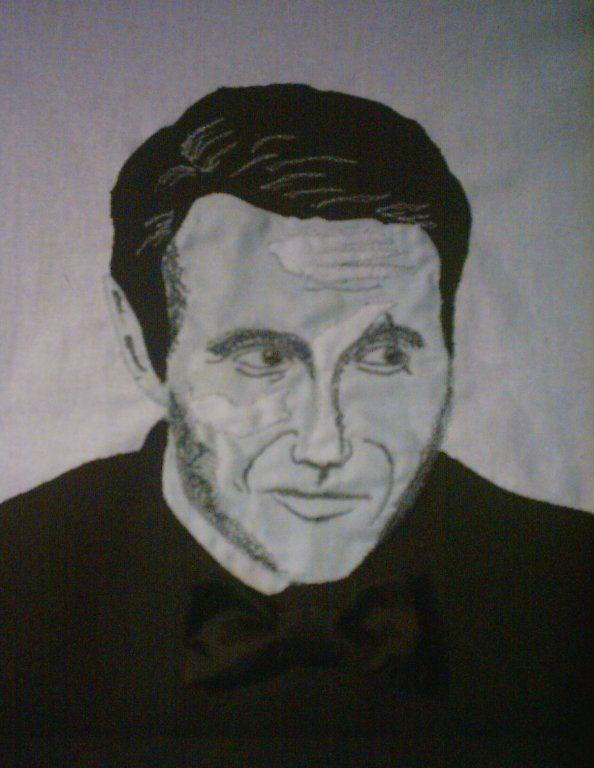 Made this pictureapplication of Mads Mikkelsen, for my dear friend and collector Knud Braagaard