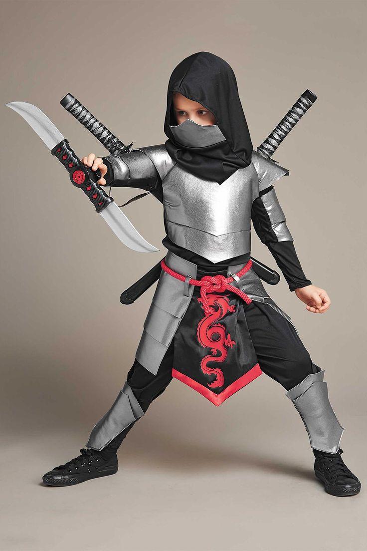 Silver Ninja Costume For Boys | Chasing Fireflies