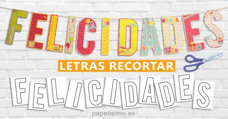 Moldes gratis letras para hacer letreros y guirnaldas | Manualidades