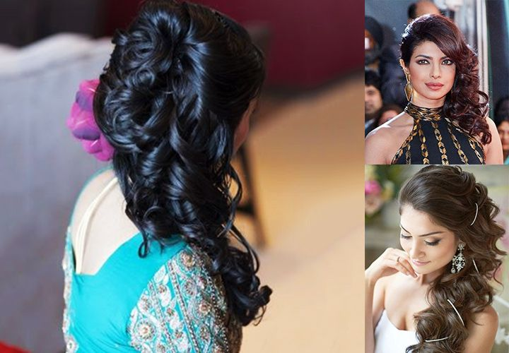 Indian Bridal Hairstyles For Long Hair Side Waves Long Hair Styles Long Hair Indian Girls Hair Styles