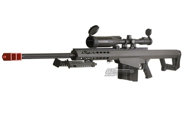SOCOM Gear Full Metal Barrett M82 Sniper Rifle AEG Airsoft Gun ( BLK )