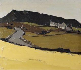 """Llanfihangel Tinsilwy (Angelsey)"" by Sir Kyffin Williams, RA (oil on canvas)"