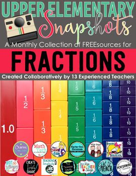 This FREE monthly fraction ebook is loaded with math resources for upper elementary classrooms. You will be getting 11 activities covering fraction concepts for 3rd, 4th, and 5th grade. Each month we will be creating a new ebook with a different topic.