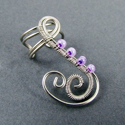 More How to Make Wire Ear Cuff Tutorials - The Beading Gem's Journal
