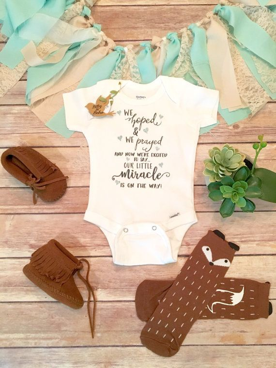 Worth the Wait Onesie®,Pregnancy Announcement,We Hoped and We Prayed,Miracle Onesie,Baby Shower Gift,Religious Baby Gift,Christian Baby Gift