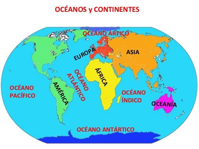Mapa Para Jugar Dónde Está Continentes Y Océanos: Más De 25 Ideas Increíbles Sobre Continentes Y Océanos