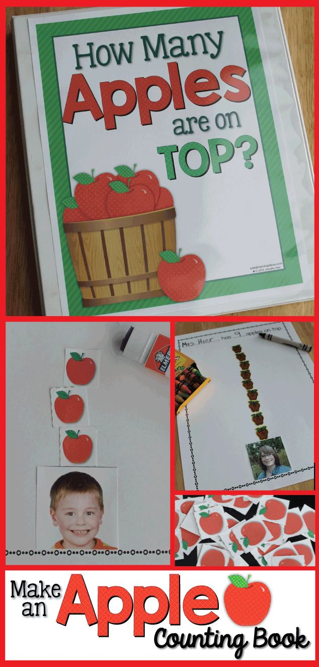Make an apple counting book for your home or classroom. with the free template.
