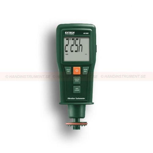 """http://handinstrument.se/termometer-r1288/kombinerad-varvraknare-varvtalsmatare-vibrationsmatare-53-461880-r1478  Kombinerad varvräknare / varvtalsmätare / vibrationsmätare  Vibrationssensor med magnet-adapter på 39 """"(1m) kabel  Brett frekvensområde av 10 Hz till 1 kHz  RMS eller Peak Value mätlägen  Manuell / Auto spara / spela upp 1000 mätvärden  Data Hold och Auto avstängning  Kontakt och icke-kontakt (Laser) funktioner varvräknare  Använder en laser för större avstånd..."""