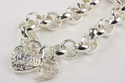 Chunky Belcher Bracelet with Locket Silver – Jewel Online Chunky Belcher Bracelet with Filigree Locket set with CZ. Real Rhodium electroplated over brass. Size 7.5 inches $129.90