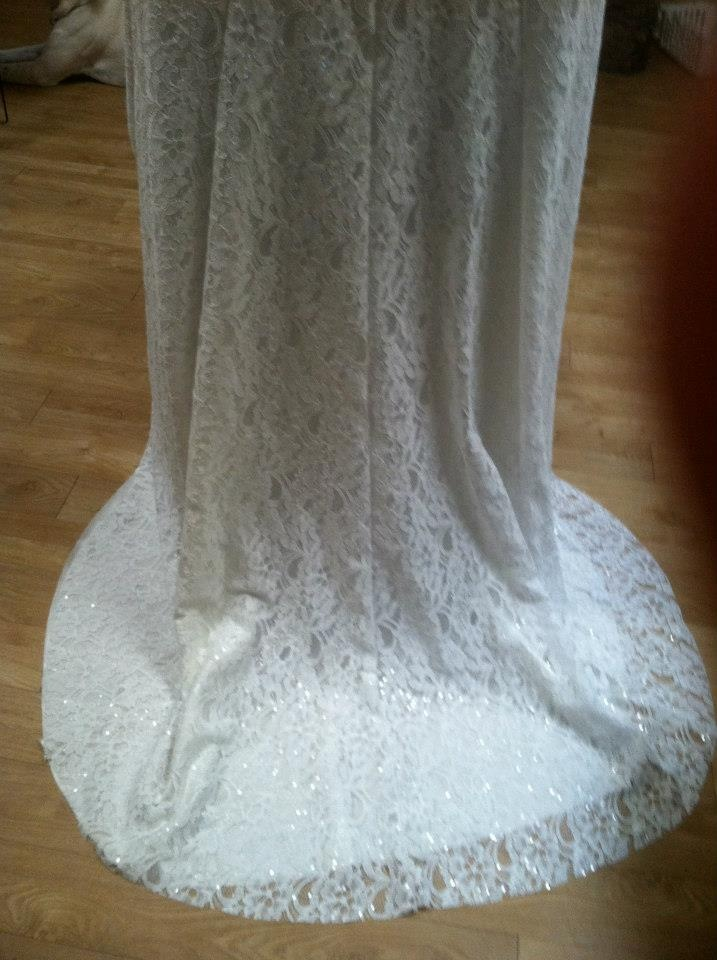 this is the back while hanging on a chair because i don't have a dress form