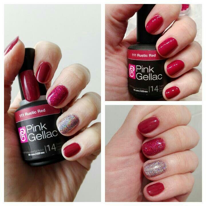 Pink gellac rustic red