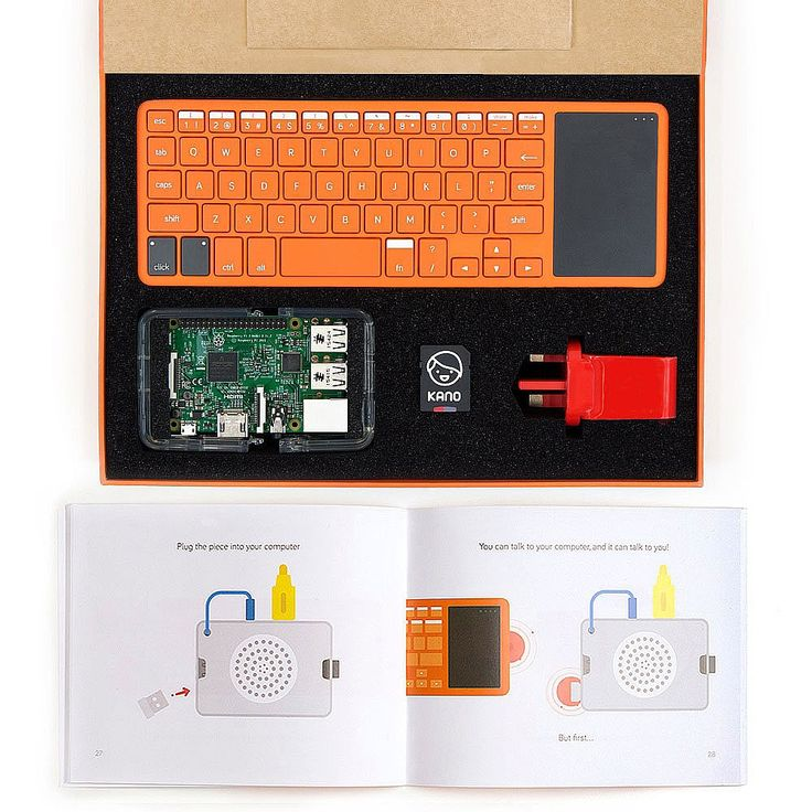 The Kano Computer Kit is the simplest way to start coding, for ages 6 and up. The kit includes all the components you need to build a real working computer. A beautifully illustrated book steps you through the process, so you learn while you build. Then, connect it to a TV, or the Kano Screen Kit, and watch your computer come to life. The Kano Computer Kit includes a collection of easy-to-use apps to help you make art, music, or code games like Pong, Snake or Minecraft. The step-by-step…